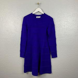 Eliza J Size S Blue Sweater Dress Ribbed
